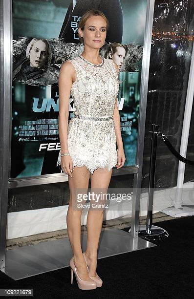 Actress Diane Kruger arrives at the 'Unknown' Los Angeles Premiere on February 16 2011 in Westwood California