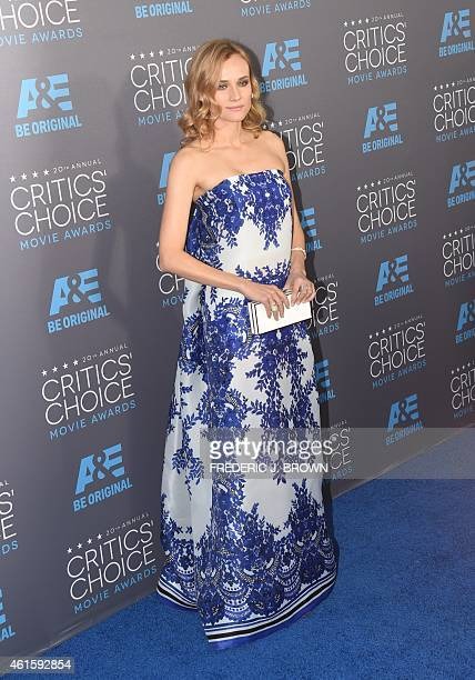 Actress Diane Kruger arrives for the 20th Annual Critics Choice Awards January 15 at the Palladium in Hollywood California AFP PHOTO / FREDERIC J...