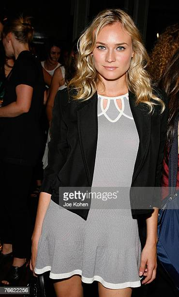 Actress Diane Kruger at 3.1 Phillip Lim fashion show during the Mercedes-Benz Fashion Week Spring 2008 on Sep 9 2007 in New York City
