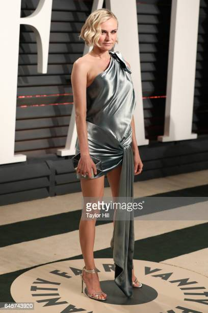 Actress Diane Kruger attends 2017 Vanity Fair Oscar Party Hosted By Graydon Carter at Wallis Annenberg Center for the Performing Arts on February 26...