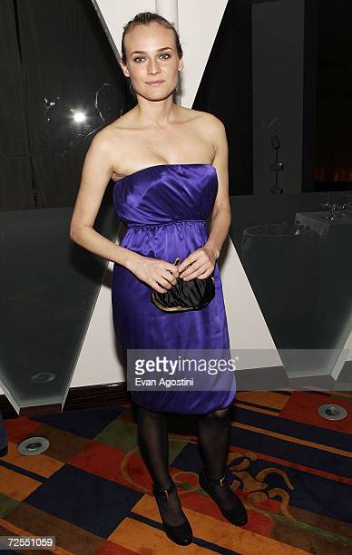 Actress Diane Kruger attends a special screening after party for the film Bobby hosted by The Weinstein Company at Le Cirque November 14 2006 in New...