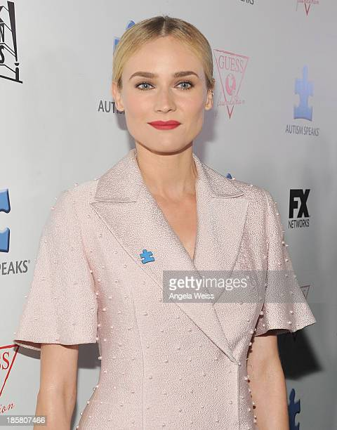 Actress Diane Kruger attends Autism Speaks' 3rd Annual 'Blue Jean Ball' presented by The GUESS Foundation at Boulevard 3 on October 24 2013 in...