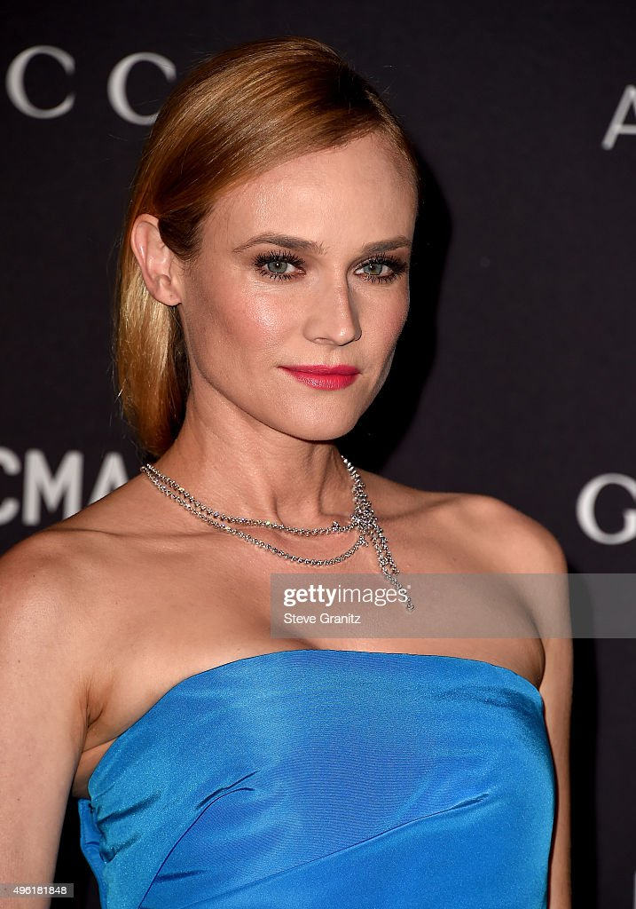 Actress Diane Kruger attends LACMA 2015 Art+Film Gala Honoring James Turrell and Alejandro G Iñárritu, Presented by Gucci at LACMA on November 7, 2015 in Los Angeles, California.