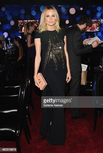 Actress Diane Kruger attends the 2014 InStyle And Warner Bros. 71st Annual Golden Globe Awards Post-Party at The Beverly Hilton Hotel on January 12,...