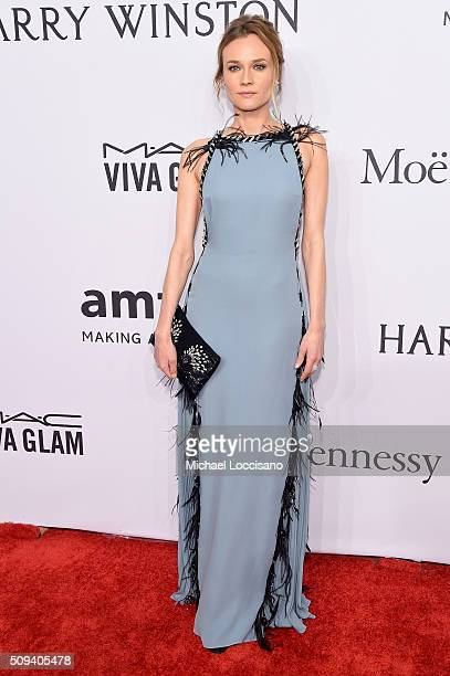 Actress Diane Kruger attends the 2016 amfAR New York Gala at Cipriani Wall Street on February 10 2016 in New York City