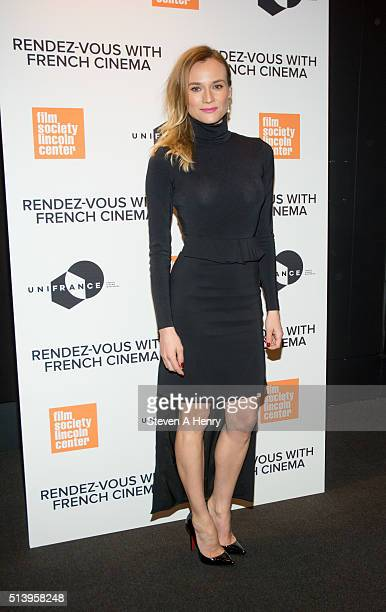 Actress Diane Kruger attends the 2016 RendezVous with French Cinema at Furman Gallery on March 5 2016 in New York City