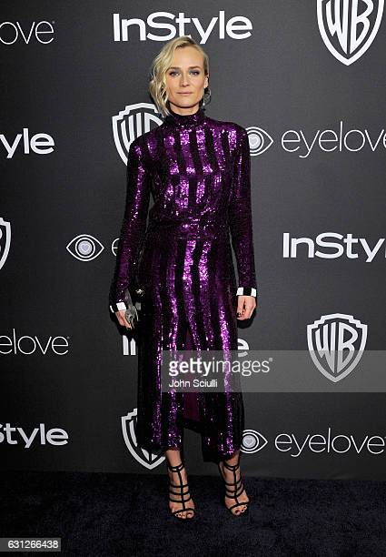 Actress Diane Kruger attends The 2017 InStyle and Warner Bros 73rd Annual Golden Globe Awards PostParty at The Beverly Hilton Hotel on January 8 2017...