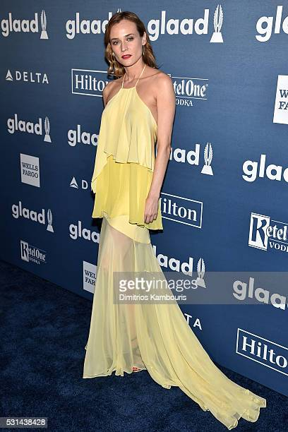 Actress Diane Kruger attends the 27th Annual GLAAD Media Awards in New York on May 14 2016 in New York City