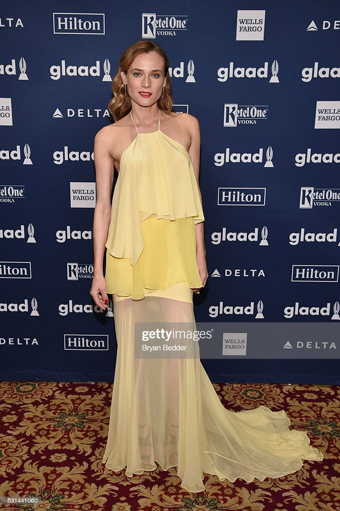 Actress Diane Kruger attends the 27th Annual GLAAD Media Awards in New York on May 14, 2016 in New York City.