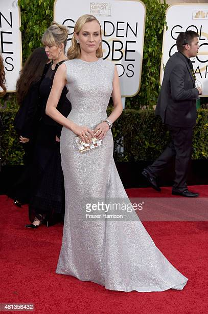 Actress Diane Kruger attends the 72nd Annual Golden Globe Awards at The Beverly Hilton Hotel on January 11 2015 in Beverly Hills California