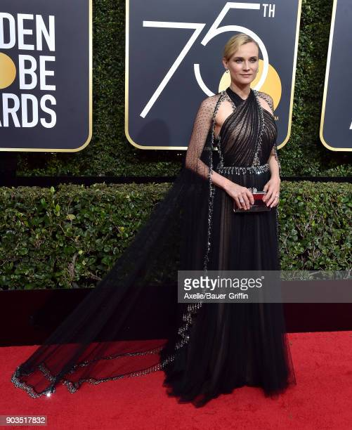 Actress Diane Kruger attends the 75th Annual Golden Globe Awards at The Beverly Hilton Hotel on January 7 2018 in Beverly Hills California