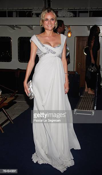 Actress Diane Kruger attends the Alberta Ferretti Boat Party during Day 6 of the 64th Annual Venice Film Festival on September 3 2007 in Venice Italy