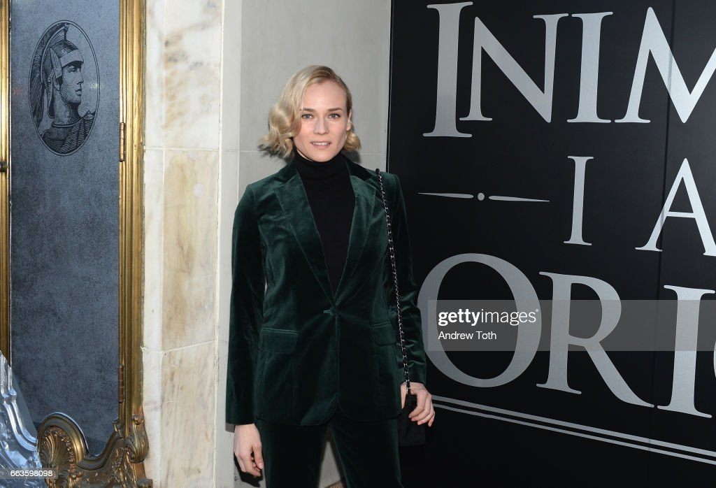 Actress Diane Kruger attends the American Express Celebrates The New Platinum Card With Hamilton Takeover Experience on April 1, 2017 in New York City.