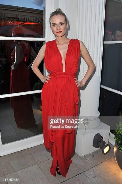 Actress Diane Kruger attends the amfAR Inspiration Gala at Pavillon Gabriel on June 23 2011 in Paris France