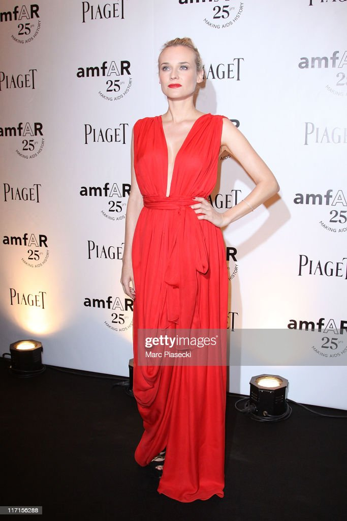 Actress Diane Kruger attends the amfAR Inspiration Gala photocall at Pavillon Gabriel on June 23, 2011 in Paris, France.