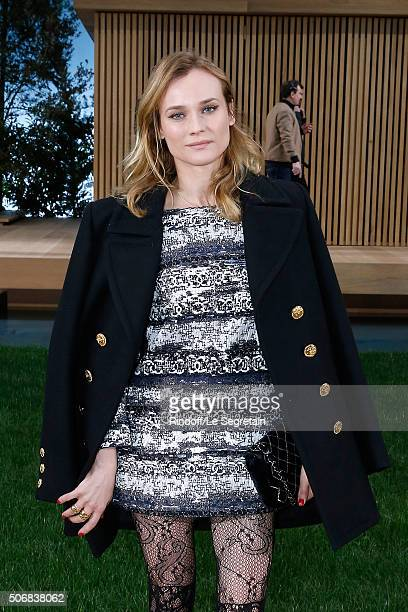 Actress Diane Kruger attends the Chanel Spring Summer 2016 show as part of Paris Fashion Week on January 26 2016 in Paris France