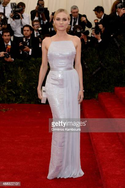 "Actress Diane Kruger attends the ""Charles James: Beyond Fashion"" Costume Institute Gala at the Metropolitan Museum of Art on May 5, 2014 in New York..."