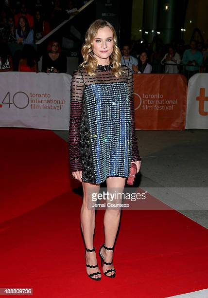 Actress Diane Kruger attends the Disorder premiere during the 2015 Toronto International Film Festival at Roy Thomson Hall on September 17 2015 in...