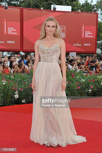 Actress Diane Kruger attends The Ides Of March premiere during the 68th Venice Film Festival at the Palazzo del Cinema on August 31 2011 in Venice...