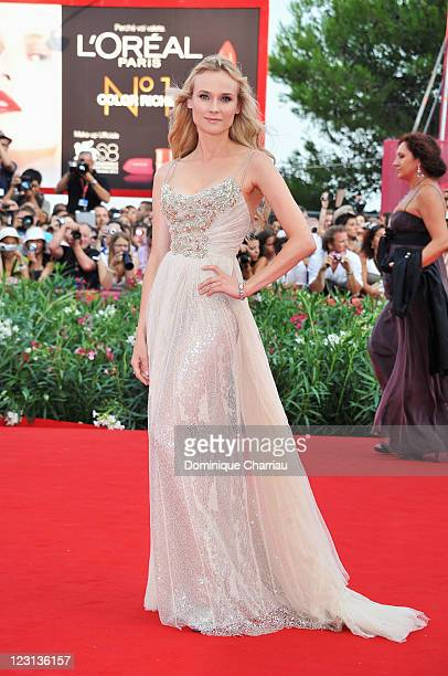 Actress Diane Kruger attends The Ides of March Premiere during the 68th Venice International Film Festival at Palazzo del Cinema on August 31 2011 in...