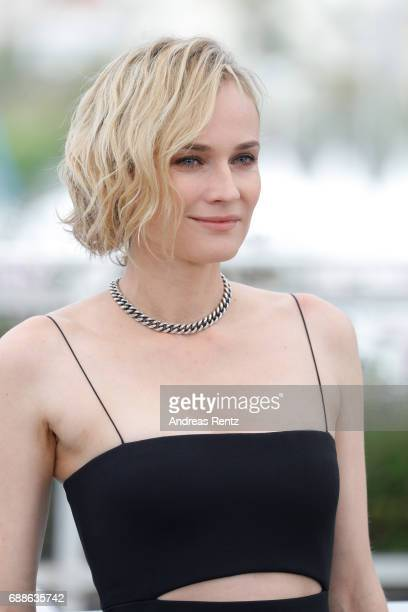 Actress Diane Kruger attends the 'In The Fade ' photocall during the 70th annual Cannes Film Festival at Palais des Festivals on May 26 2017 in...