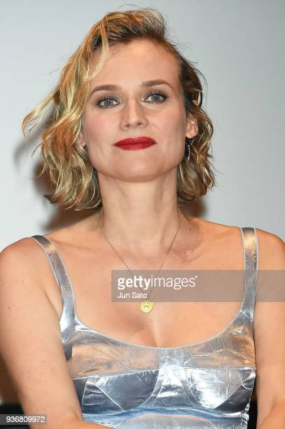 Actress Diane Kruger attends the 'In The Fade' press conference at GoetheInstitut on March 23 2018 in Tokyo Japan