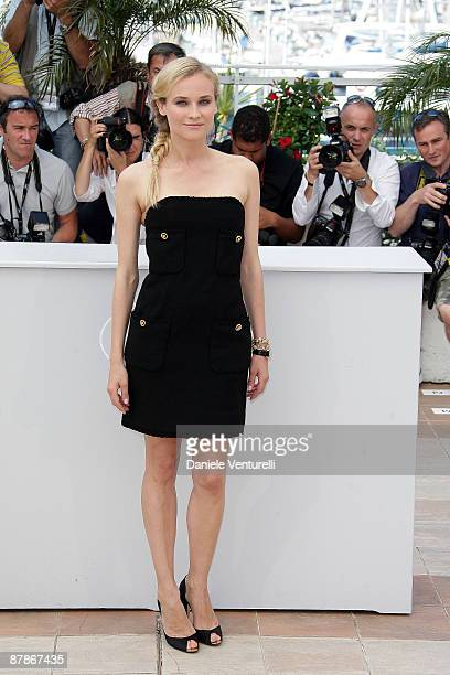 Actress Diane Kruger attends the 'Inglourious Basterds' Photo Call at the Palais des Festivals during the 62nd Annual Cannes Film Festival on May 20...