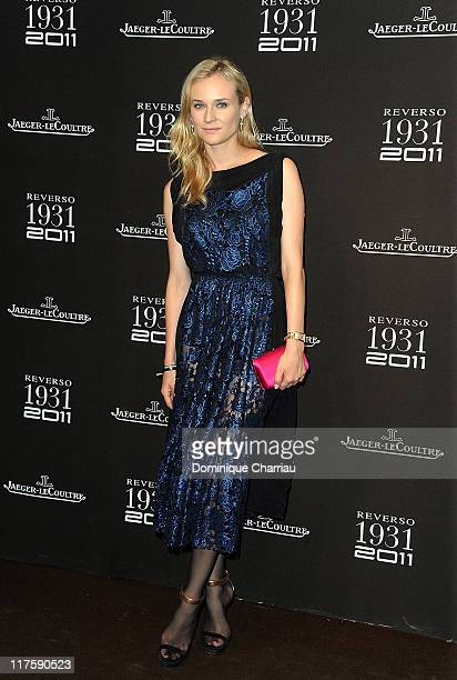 Actress Diane Kruger attends the JaegerLecoultre Reverso 80th Anniversary at Les BeauxArts de Paris on June 28 2011 in Paris France