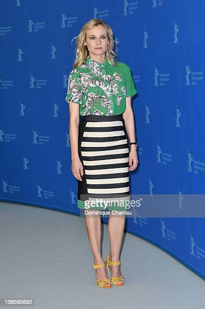 Actress Diane Kruger attends the Les Adieux De La Reine Photocall during day one of the 62nd Berlin International Film Festival at the Grand Hyatt on...