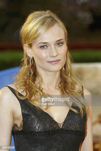 Actress Diane Kruger attends the official European premiere of longawaited epic film Troy at the Cinestar Cinema Potsdamer Square on May 9 2004 in...