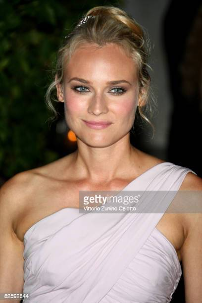 Actress Diane Kruger attends the party of the movie 'Valentino The Last Emperor' held at Guggenheim Museum during the 65th Venice Film Festival on...
