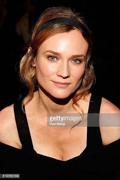 Actress Diane Kruger attends the Prabal Gurung Fall 2016 fashion show during New York Fashion Week The Shows at The Arc Skylight at Moynihan Station...