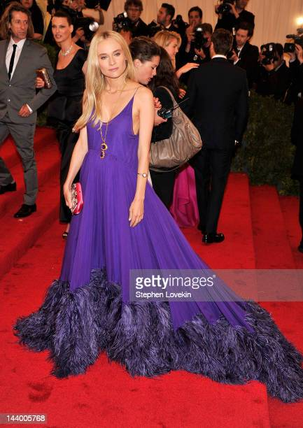 Actress Diane Kruger attends the Schiaparelli And Prada Impossible Conversations Costume Institute Gala at the Metropolitan Museum of Art on May 7...