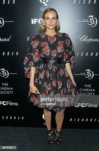 Actress Diane Kruger attends the screening of IFC Films' Disorder hosted by The Cinema Society Chopard with Line 39 and Qui at Landmark's Sunshine...