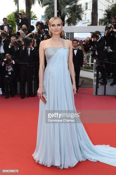 Actress Diane Kruger attends the screening of 'Sink Or Swim ' during the 71st annual Cannes Film Festival at Palais des Festivals on May 13 2018 in...