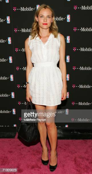Actress Diane Kruger attends the T-Mobile Basketball's Rising Stars Celebration at Tao Restaurant on June 28, 2006 in New York City.
