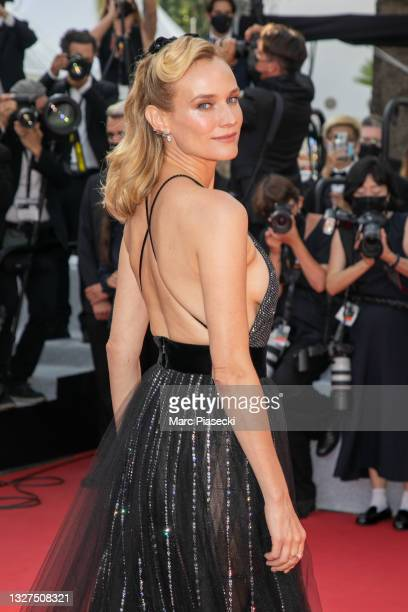 """Actress Diane Kruger attends the """"Tout S'est Bien Passe """" screening during the 74th annual Cannes Film Festival on July 07, 2021 in Cannes, France."""
