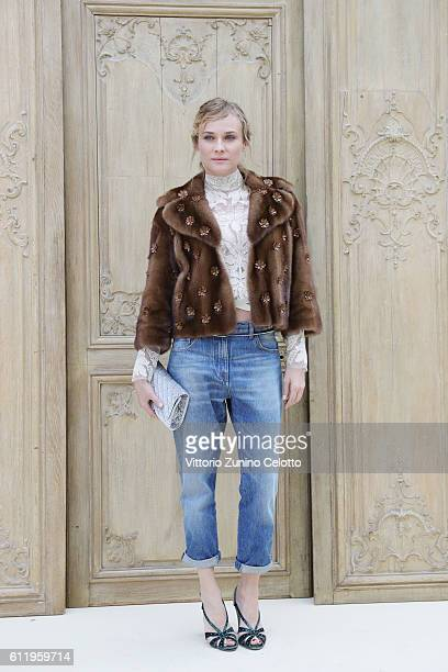 Actress Diane Kruger attends the Valentino show as part of the Paris Fashion Week Womenswear Spring/Summer 2017 on October 2 2016 in Paris France
