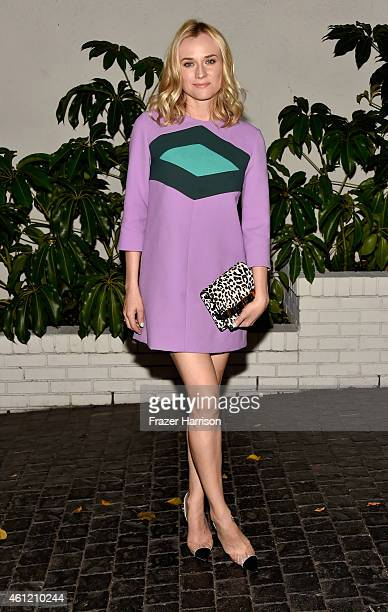 Actress Diane Kruger attends the W Magazine celebration of the 'Best Performances' Portfolio and The Golden Globes with Cadillac and Dom Perignon at...