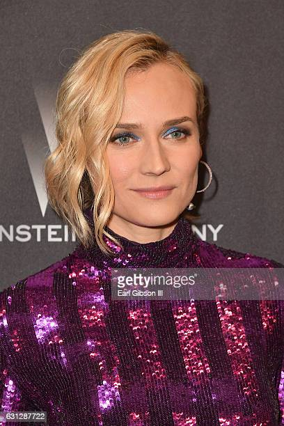 Actress Diane Kruger attends The Weinstein Company and Netflix Golden Globe Party presented with FIJI Water Grey Goose Vodka Lindt Chocolate and...
