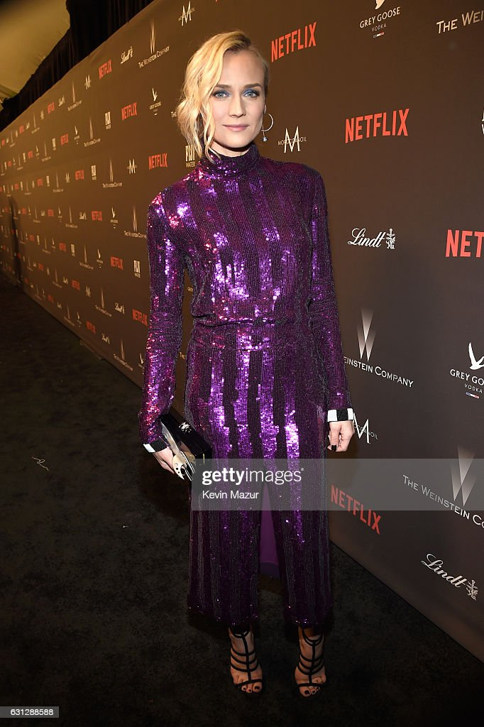Actress Diane Kruger attends The Weinstein Company and Netflix Golden Globe Party, presented with FIJI Water, Grey Goose Vodka, Lindt Chocolate, and Moroccanoil at The Beverly Hilton Hotel on January 8, 2017 in Beverly Hills, California.