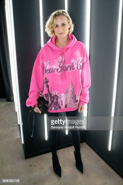 Actress Diane Kruger attends the YSL Beauty Hotel event during Paris Fashion Week Menswear Fall/Winter 20182019 on January 17 2018 in Paris France