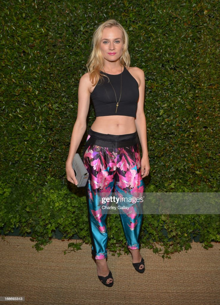 Actress Diane Kruger attends Vogue and MAC Cosmetics dinner hosted by Lisa Love and John Demsey in honor of Prabal Gurung at the Chateau Marmont on Monday, May 13, 2013 in Los Angeles, California.