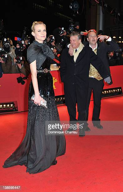 Actress Diane Kruger director Benoit Jacquot and actor Xavier Beauvois attend the 'Les Adieux De La Reine' Premiere during day one of the 62nd Berlin...