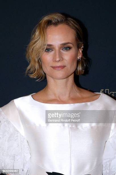 Actress Diane Kruger dressed in Chanel attends the 'Cesar Revelations 2018' Party at Le Petit Palais on January 15 2018 in Paris France