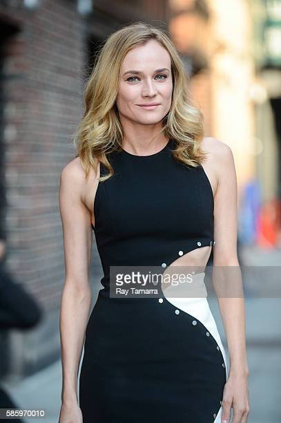 Actress Diane Kruger enters 'The Late Show With Stephen Colbert' taping at the Ed Sullivan Theater on August 04 2016 in New York City