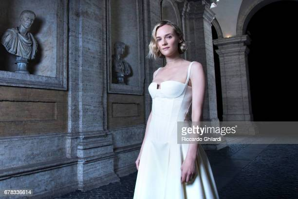 Actress Diane Kruger is photographed on April 5 2017 in French Embassy in Rome Italy