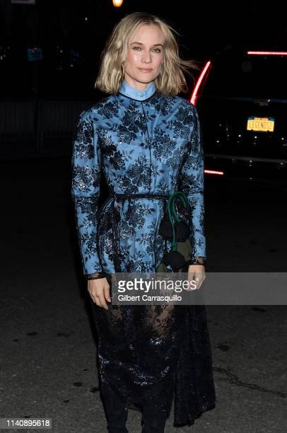 Actress Diane Kruger is seen arriving to the Prada Resort 2020 fashion show at Prada Headquarters on May 02 2019 in New York City
