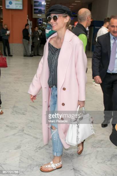 Actress Diane Kruger is seen during the 71st annual Cannes Film Festival at Nice Airport on May 12 2018 in Nice France