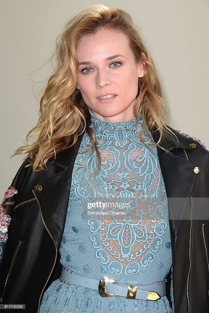 Actress Diane Kruger outside arrivals at the Elie Saab show as part of the Paris Fashion Week Womenswear Spring/Summer 2017 on October 1, 2016 in Paris, France.